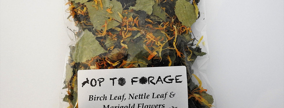 Birch Leaf, Nettle Leaf & Marigold Flowers (25g)