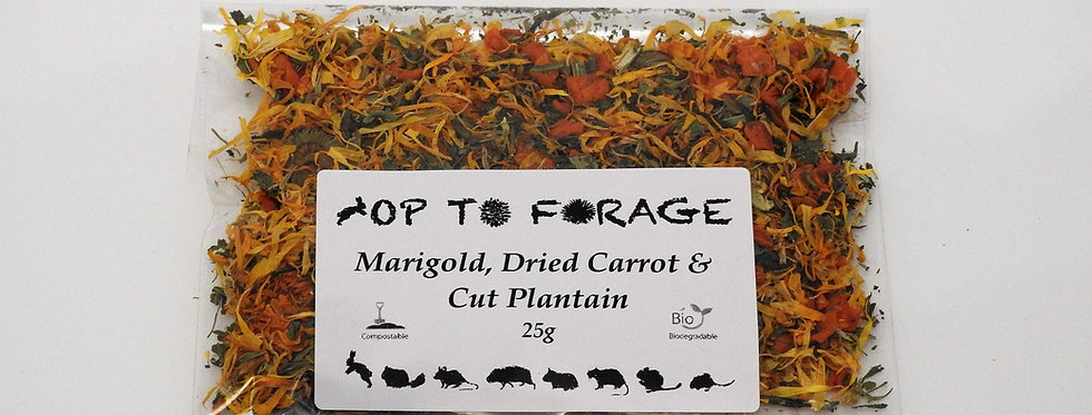 Marigold, Dried Carrot & Cut Plantain (25g)