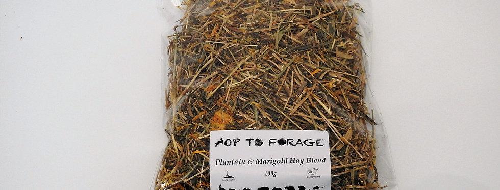 Plantain & Marigold Hay Blend (100g)