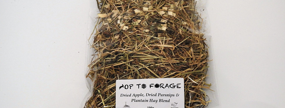 Dried Apple, Dried Parsnips & Plantain Hay Blend (100g)