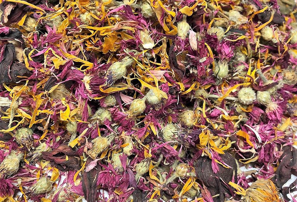 Hibiscus Flowers, Red Cornflower & Marigold Flowers (100g)