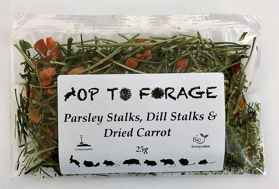 Parsley Stalks, Dill Stalks & Dried Carrot (25g)