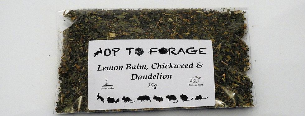 Lemon Balm, Chickweed & Dandelion (25g)