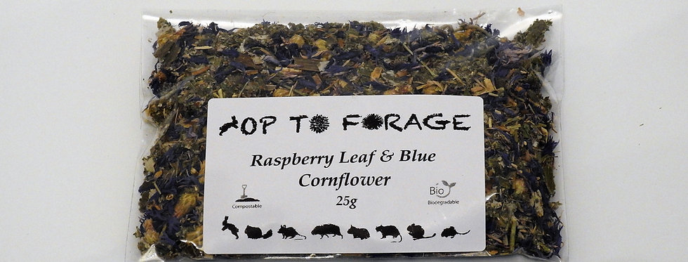 Raspberry Leaf & Blue Cornflower (25g)