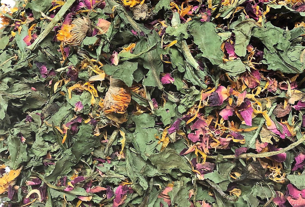 Dandelion Leaf, Rose Petals & Marigold Flowers (100g)