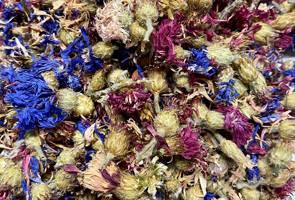 Mixed Colours Cornflowers (50g)