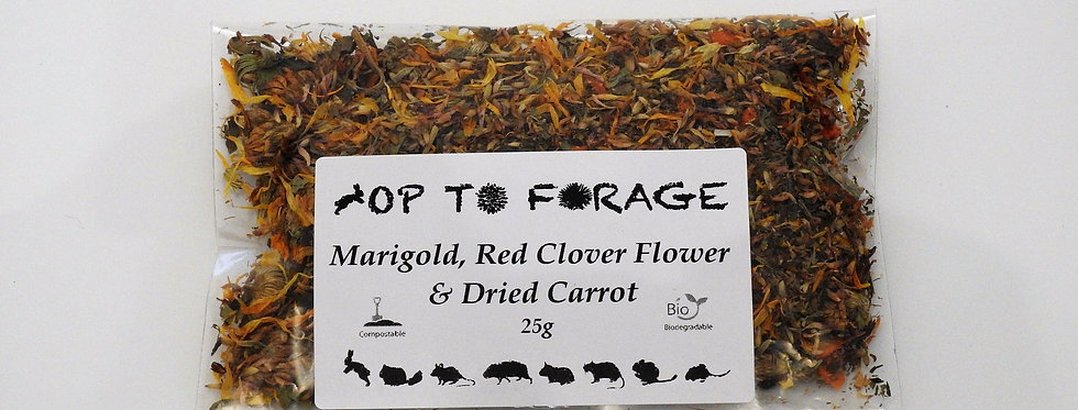 Marigold, Red Clover Flower & Dried Carrot (25g)