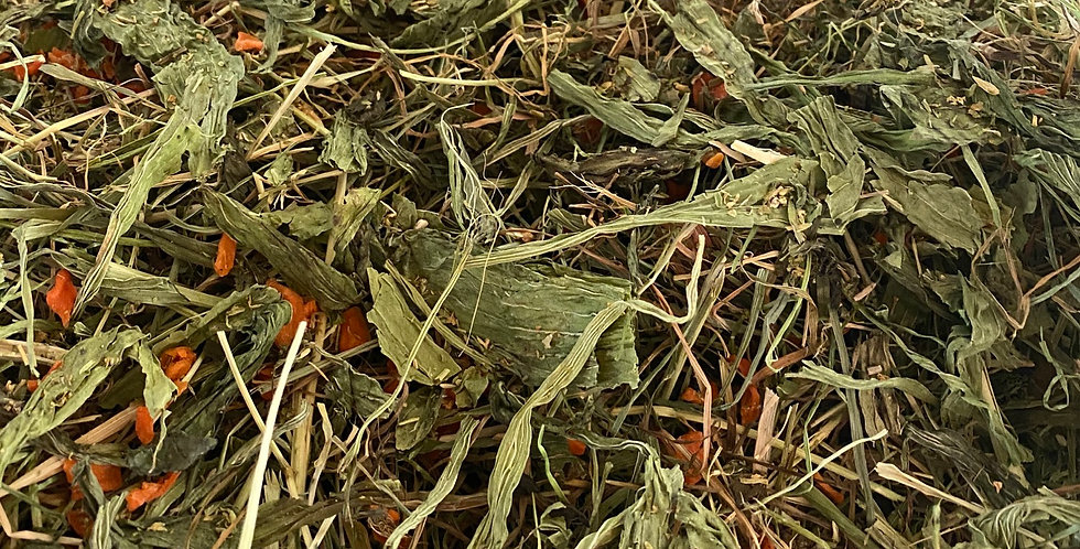 Dried Carrot, Chickweed & Plantain Hay Blend (100g)