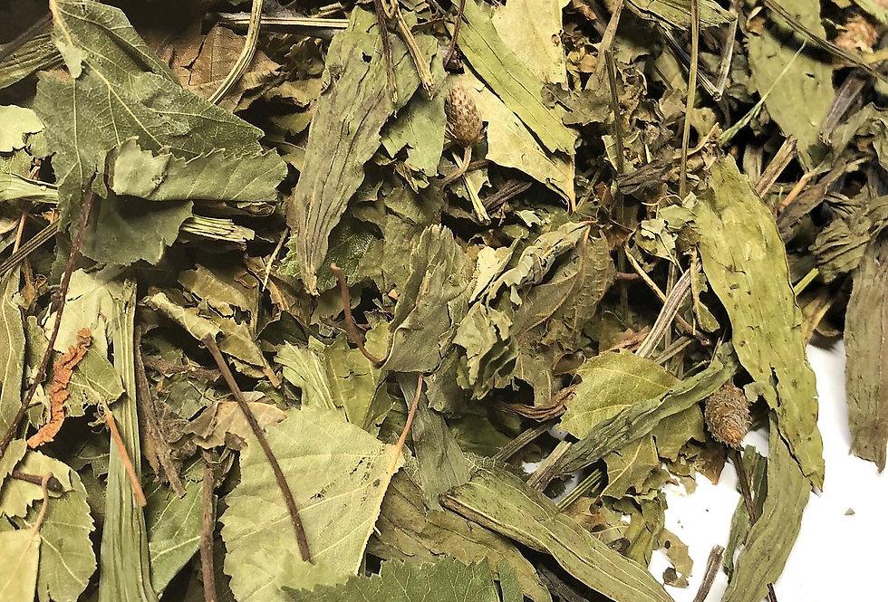Ribwort Plantain, Hazel Leaf & Birch Leaf (100g)