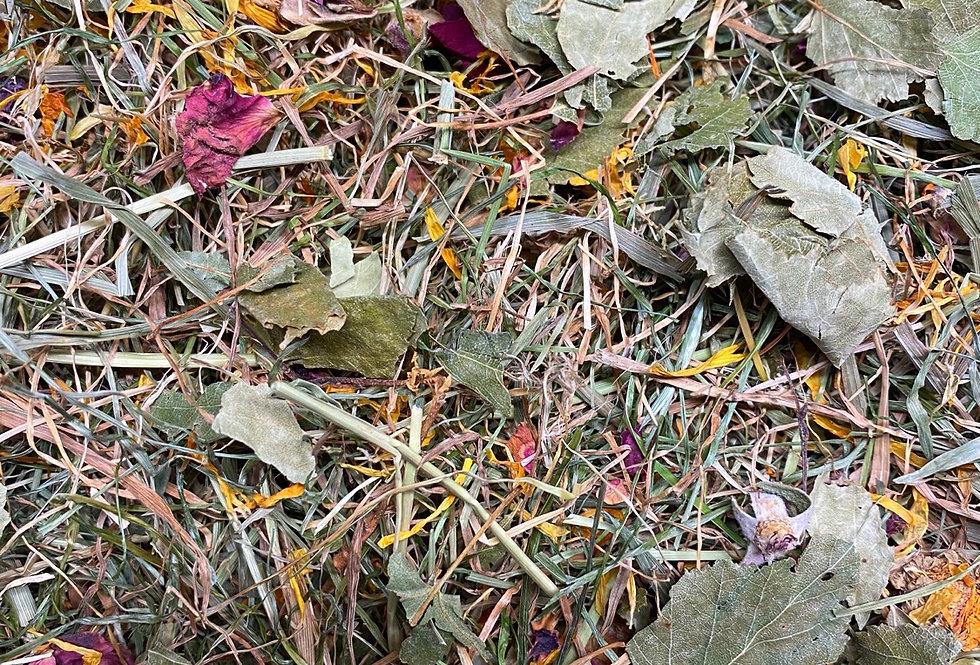 Marigold, Rose Petals & Birch Leaf Hay Blend (100g)