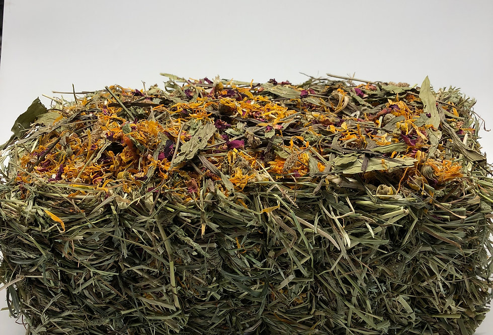 Meadow & Timothy Hay Bale Infused with Dried Herbs & Wild Flowers