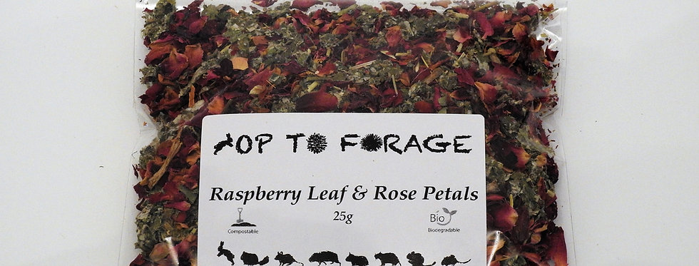 Raspberry Leaf & Rose Petals (25g)