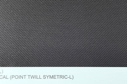 Carbon Fiber Decal (Point Twill Symetric L)