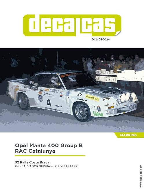 Opel Manta 400 Group B RAC Catalunya