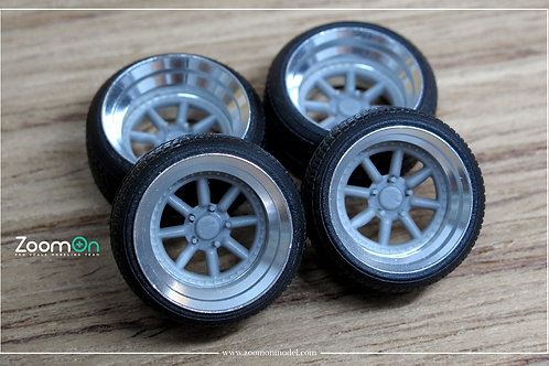 "1/24 16"" Rotiform MLW rim with tyres set"