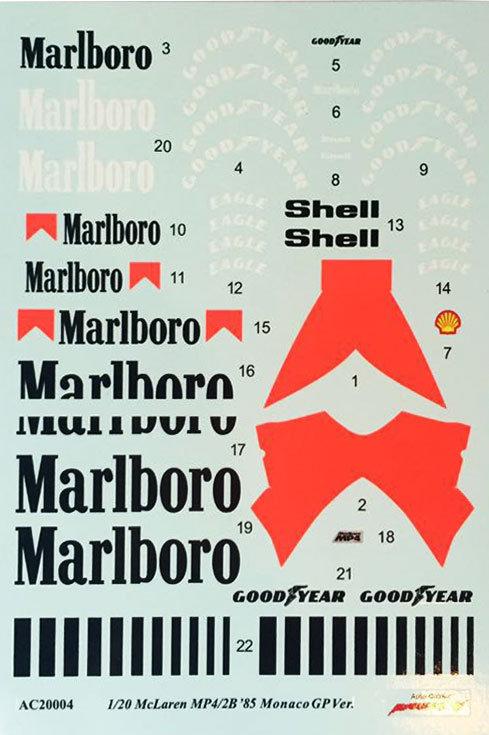 Mclaren MP4/2B '85 Monaco GP Ver. #1 #2