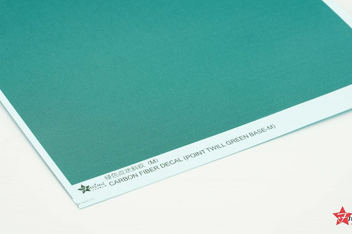 Carbon Fiber Decal Point Twill Green Base (M)