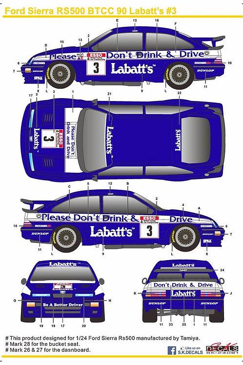 Ford Sierra RS500 BTCC 90 Labatt's #3