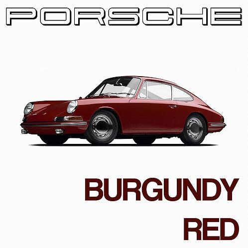 Porsche Burgundy Red