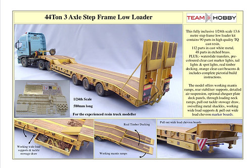 1/24 44 Tone Tri Axle Step Frame Low Loader Trailer