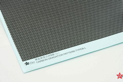 Carbon Fiber Decal Gradient Dot Type B Black Base (L)