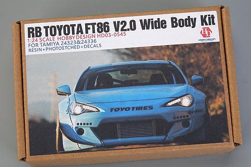 1/24 RB Toyota FT86 V2.0 Wide Body Kit Detail-up Set For Tomiya 24323&24336 (Res