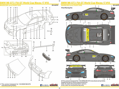 BMW M6 FIA GT World Cup Macau 2017 #18