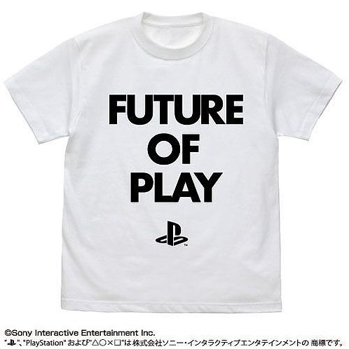 "PLAYSTATION: FUTURE OF PLAY T-SHIRT ""PLAYSTATION"": WHITE - L"