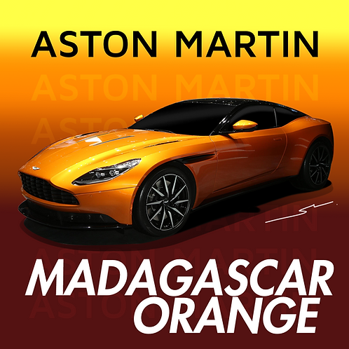 Aston Martin Madagascar Orange