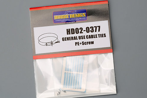 HD02-0377 General Use Cable Ties PE+Screw