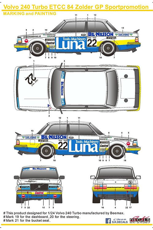 Volvo 240 Turbo ETCC 84Zolder GP Sportpromotion