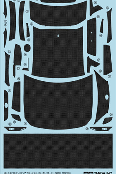 1/24 Scale Toyota 86/Toyota GT86 Carbon Pattern Decal Set