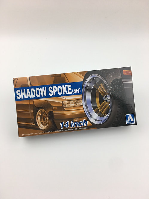 """1/24 14"""" Shadow Spoke (4H) wheels and tyres"""