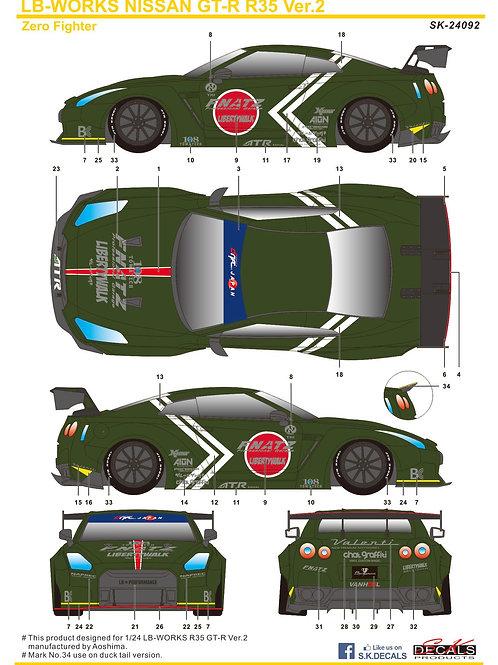 1/24 LB-Works Nissan GTR R35 Ver. 2