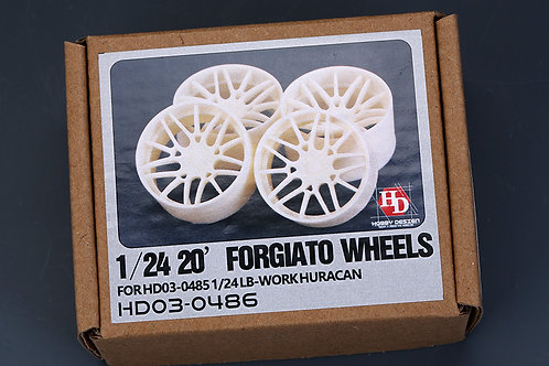 "1/24 20"" Forgiato Wheels for LB-Works Huracan"