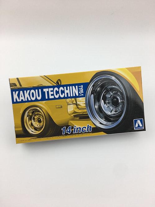 """1/24 14"""" Kakou Tecchin Type-1 Wheels and tyres"""