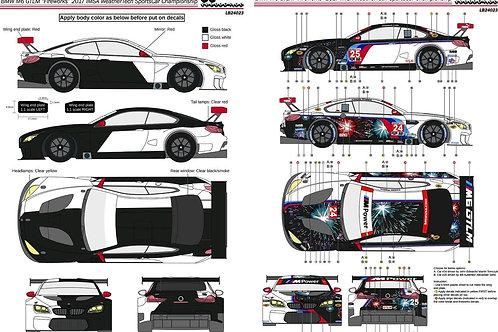 "1/24 BMW M6 GTLM ""Fireworks"" 2017 IMSA WeatherTech Sportcars Championship"
