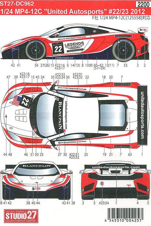 "MP4-12C ""United Autosports"" #22/23 BLANCPAIN (2012)"
