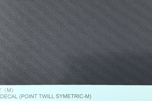 Carbon Fiber Decal (Point Twill Symetric M)