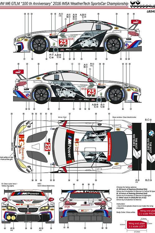 "1/24 BMW M6 GTLM ""100th Anniversary"" 2016 IMSA WeatherTech Sportcar Championship"