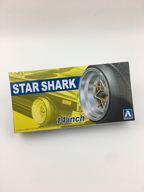 """1/24 14"""" Star Shark wheels and tyres"""
