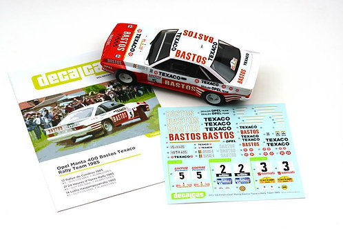 Opel Manta 400 Bastos Texaco Rally Team 1985