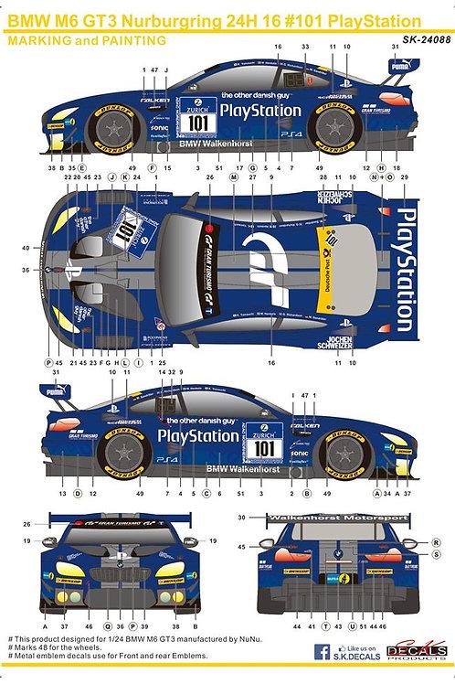 BMW M6 GT3 Nurburgring 24H 16 #101 PlayStation