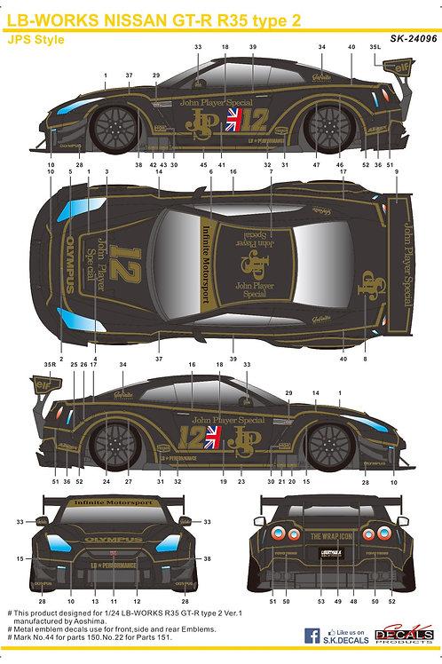 1/24 LB-Works Nissan GTR R35 Type 2