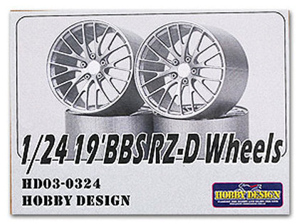 "1/24 19"" BBS RZ-D Wheels"