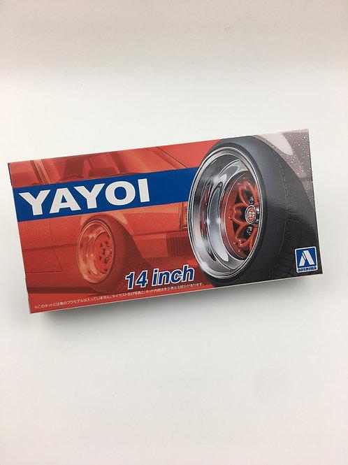 "1/24 14"" Yayoi wheels and tyres"