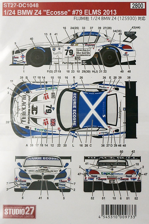 """BMW Z4 """"Ecosse"""" #79 ELMS 2013"""