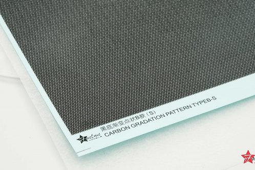 Carbon Fiber Decal Gradient Dot Type B Black Base (S)