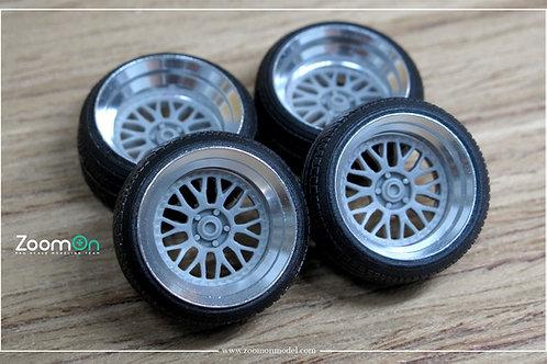 """1/24 16"""" Work Meister M1 rim wirh tyres set"""