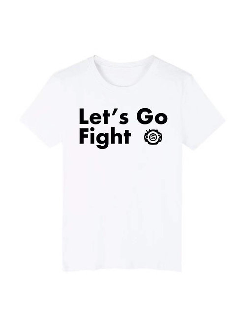 "White Tee ""Let's Go Fight"" L"